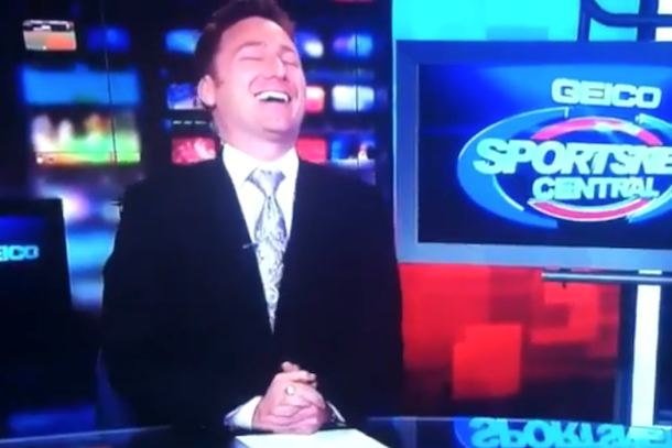 sportscaster excited about wizards win
