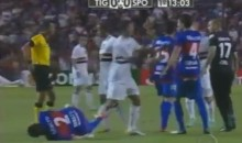 Attempted Kick-To-The-Groin Results In Another Ridiculous Soccer Dive (Video)