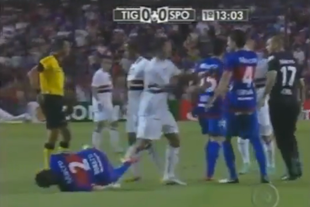 terrible soccer dive