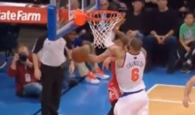 Tyson Chandler Greets Jeremy Lin With An Elbow During His Return To New York (Video)