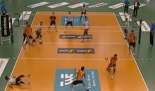 Unbelievable Volleyball Spike Hits Three Players in the Face (Video)