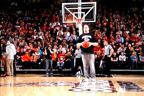 worst half court shot ever