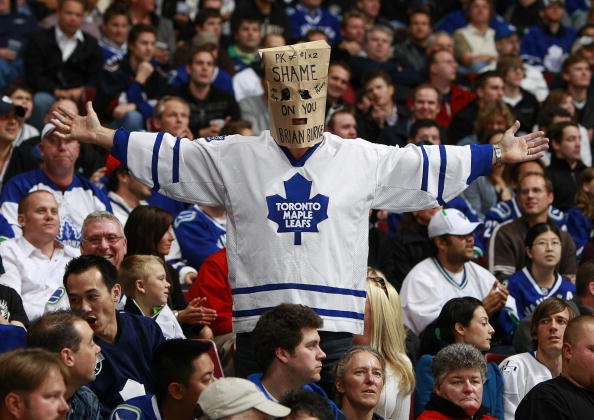 1 leafs fan bag on head - worst moments in leafs history