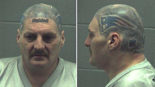 16 patriots head tattoo