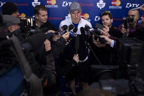 3 leafs phaneuf press conference