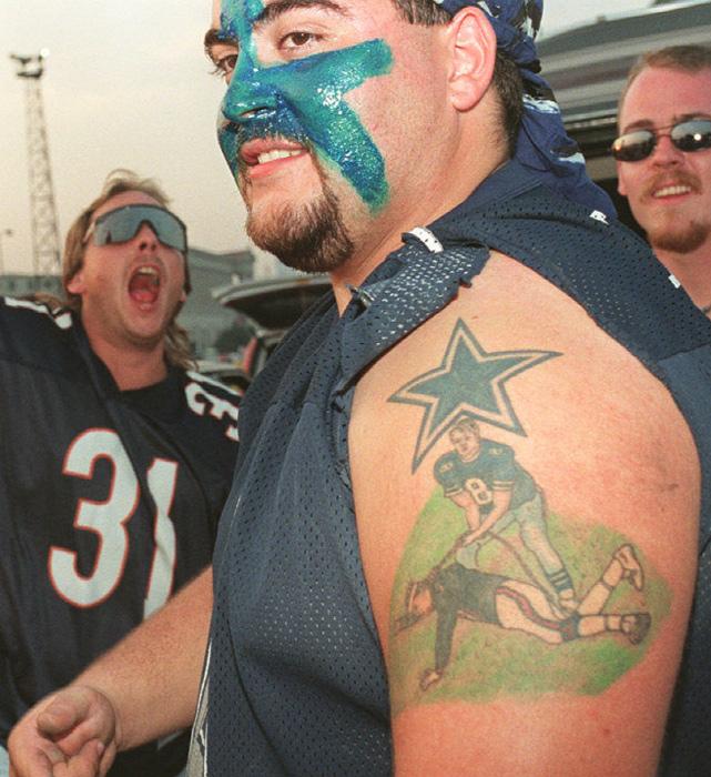 8 dallas cowboys tattoo aikman choking mcmahon