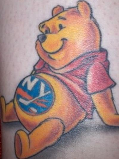 9 islanders winnie the pooh tattoo