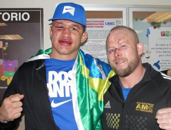 Junior Dos Santos and Tim Boetsch ufc 155