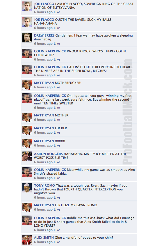 NFL quarterbacks convo facebook conference champ