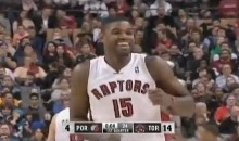 Raptors' Amir Johnson Gets Away With a Blatant Double-Dribble (Video)