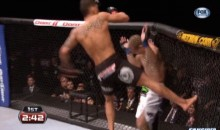 Anthony Pettis Executes a Flying Knee Off the Cage at UFC on Fox 6 (GIF)