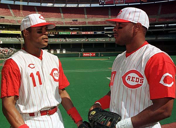barry larkin and stephen larkin - baseball brothers same team