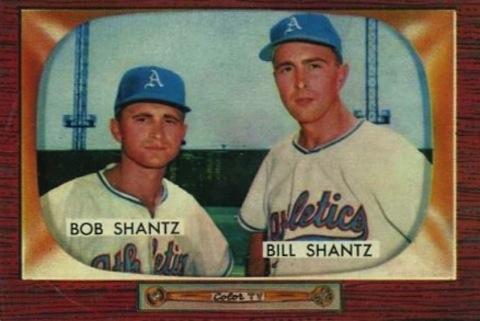 billy shantz and bobby shantz - baseball brothers same team