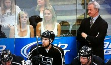 Check Out the Two Blondes Behind the Kings Bench Last Night (Photos)