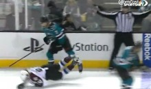 Sharks' Brad Stuart Drills Avs' Gabriel Landeskong With Devastating Hit (Video)