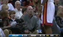LeBron James' Errant Pass Hits Cameraman in the Face (Video)