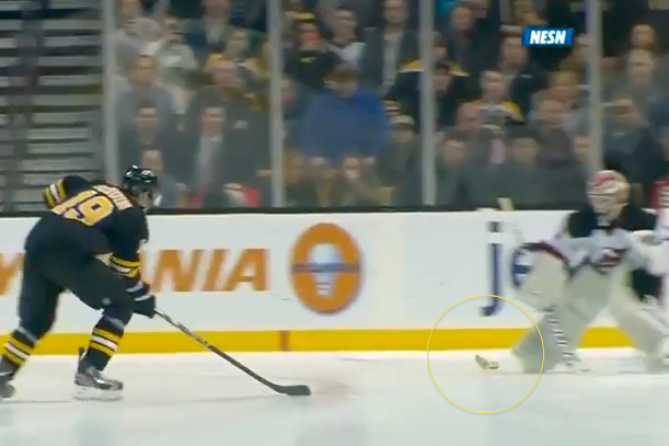bruins fan throws hot dog on ice during shootout 2