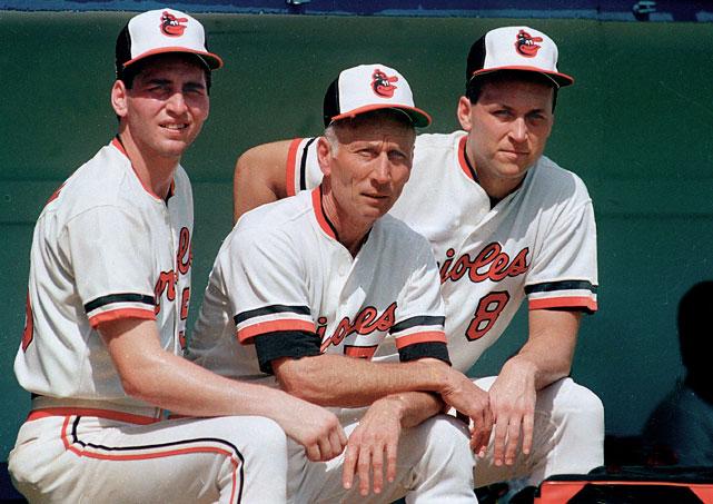 cal ripken sr, cal ripken jr, billy ripken - baseball brothers same team