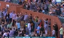 Cricket Fan Makes Great One-Handed Catch Without Dropping His Food (Video)