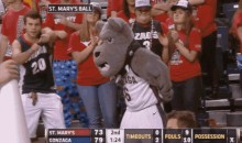 Check Out These Dancing Gonzaga Fans (GIF)