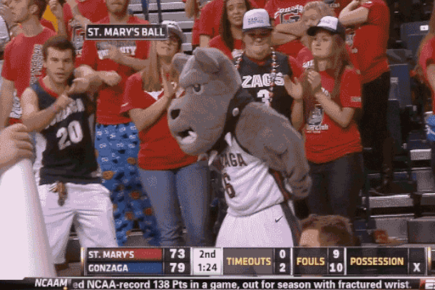dancing gonzaga fan