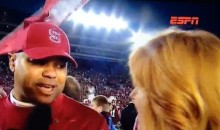 ESPN's Heather Cox Gets Blown Off By Stanford Coach David Shaw (Video)