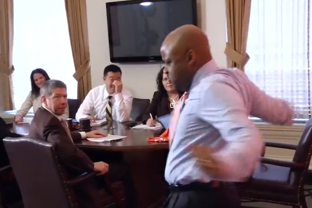 denver mayor michael hancock does ray lewis dance
