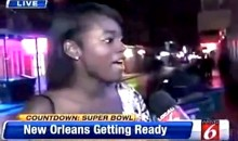 Drunk 49ers Fan Gets Owned by Orlando Reporter Covering Super Bowl (Video)