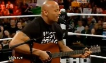 "The Rock Revived His ""Rock Concert"" Gimmick on Monday Night Raw (Video)"