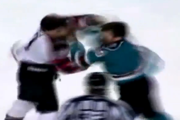 epic hockey fight