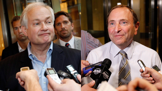 gary bettman donald fehr nhl lockout over