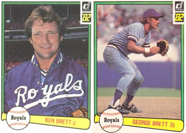 george brett and ken brett - baseball brothers same team