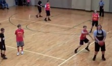 Watch This Kid Drain An Impressive Backwards Buzzer Beater (Video)