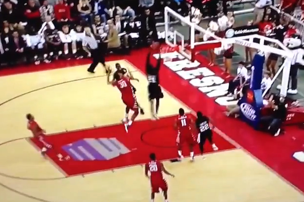 jamal franklin san diego state self dunk backboard