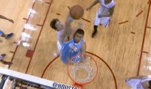 JaVale McGee Performed a Self Alley-Oop Dunk Against the Rockets Last Night (Video)
