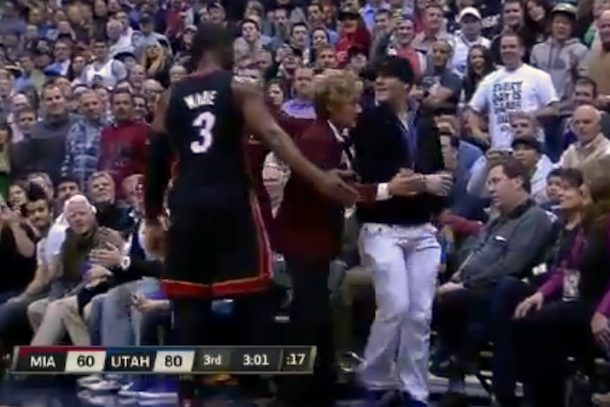 jazz fan ejected for heckling dwyane wade