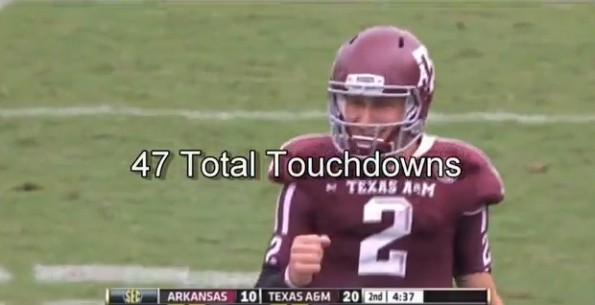 johnny manziel 47 touchdowns