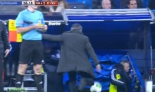Jose Mourinho Loses It After Cristiano Ronaldo's Dive Goes Uncalled (Video)