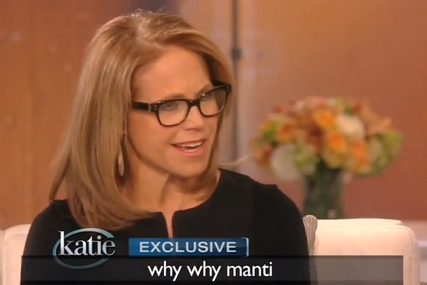katie couric why why manti