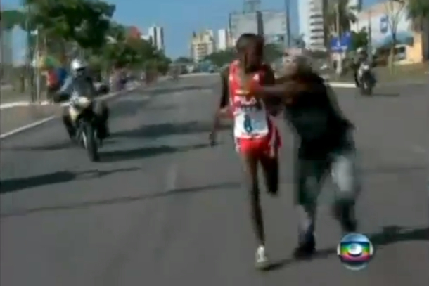 kenyan runner attacked by fan
