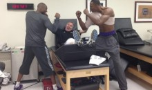 Kobe Bryant Tweets Picture of Mock Fight With Dwight Howard (Photo)