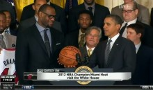 LeBron James Awestruck By President Obama During Heat's Visit to the White House (Video)