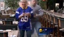 Female News Reporter Gets Bulldozed By Crazy Minnesota Vikings Fan on Live TV (Video)