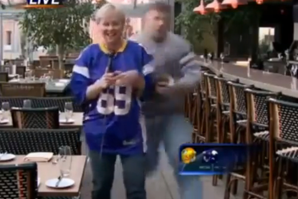 minnesota reporter gets tackled by some guy on live TV
