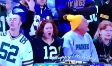 Drunk Packers Fan Nearly Passes Out After Cheering Too Hard (Video)
