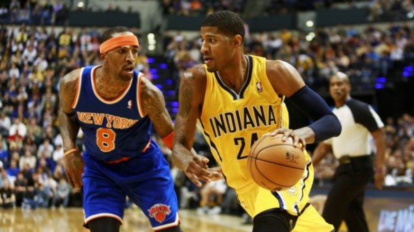 paul george vs knicks