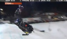 Run-Away Snowmobile Crashes into Spectators at the Winter X-Games (Video)