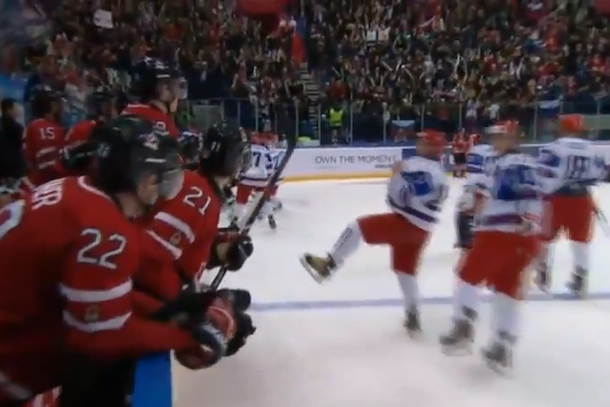 russian players taunt team canada at world juniors