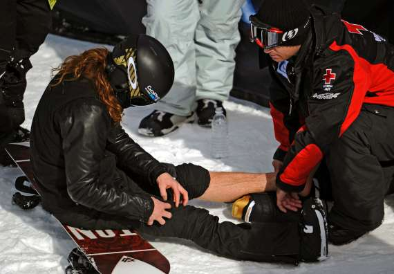 shaun white x-games injury 2012