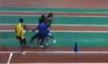 I Bet You've Never Seen a Track Brawl Before (Video)